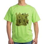 Steampunk Dreams Green T-Shirt