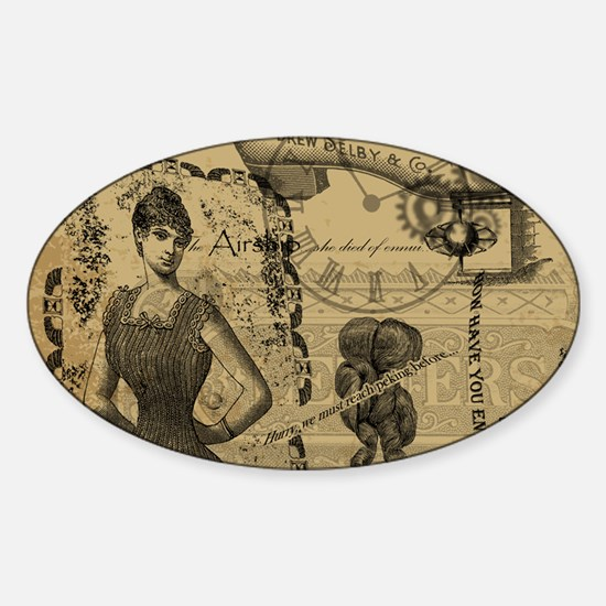 Steampunk Dreams Sticker (Oval)
