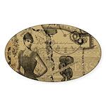 Steampunk Dreams Sticker (Oval 10 pk)