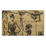 Steampunk Dreams Sticker (Rectangle 10 pk)
