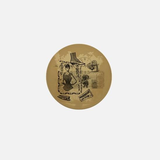 Steampunk Dreams Mini Button