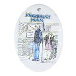 Megaphone Man Ornament (Oval)