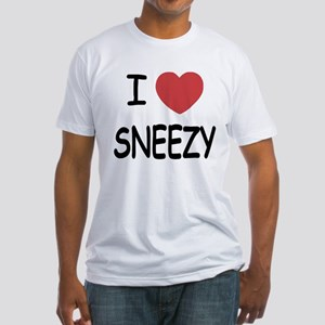 I heart sneezy Fitted T-Shirt