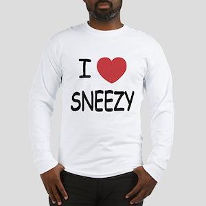 I heart sneezy Long Sleeve T-Shirt