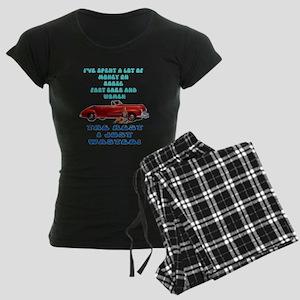 Booze,Cars and Women Women's Dark Pajamas