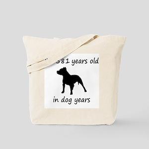 83 Dog Years Pitbull 1C Tote Bag