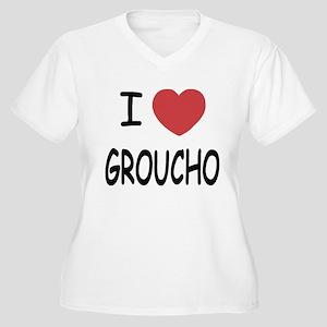 I heart groucho Women's Plus Size V-Neck T-Shirt