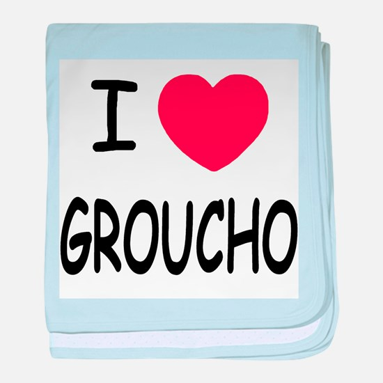 I heart groucho baby blanket
