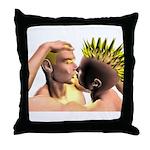 Electric Kiss Throw Pillow