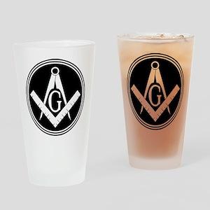 Masonic Square and Compass Pint Glass