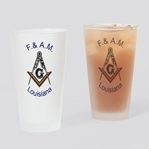 Louisiana Square and Compass Pint Glass