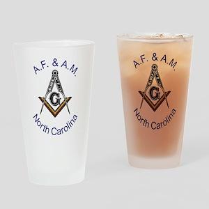North Carolina Square and Com Pint Glass