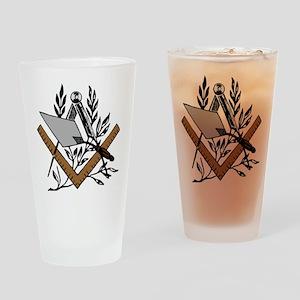 Masonic S&C with Trowel Pint Glass