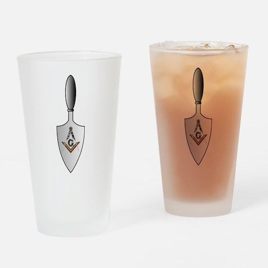 Masonic Trowel Pint Glass