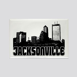 Jacksonville Skyline Rectangle Magnet