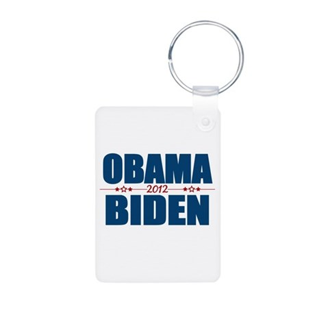 Obama Biden 2012 Aluminum Photo Keychain