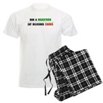 Run a Marathon Eat Carbs Men's Light Pajamas