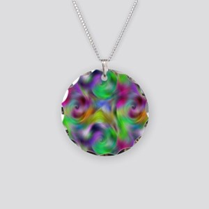 Psychedelic Collection Necklace Circle Charm