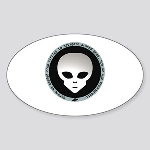 Alien Roundabout Oval Sticker