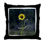 Lonely Yellow Throw Pillow