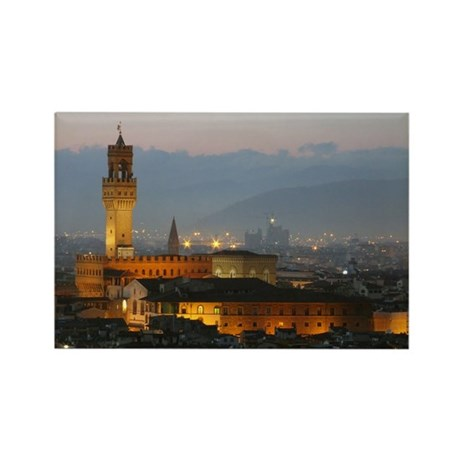 Florence at Night Rectangle Magnet