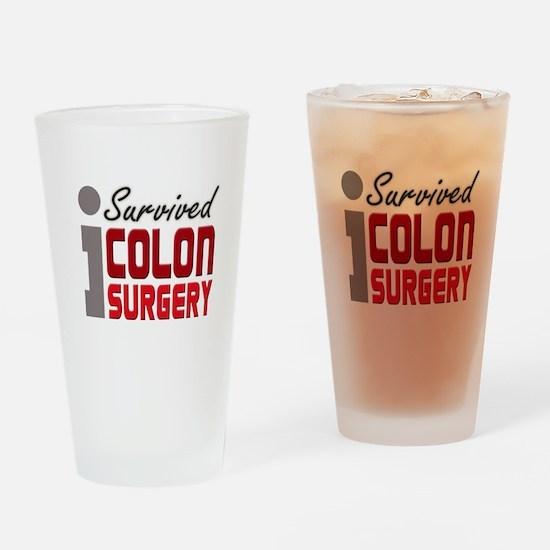 Colon Surgery Survivor Pint Glass
