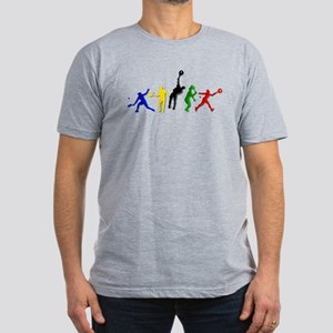 Tennis Players Men's Fitted T-Shirt (dark)