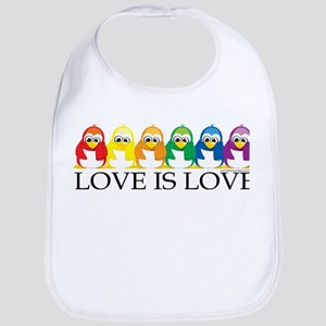 Love Is Love: Penguins Bib