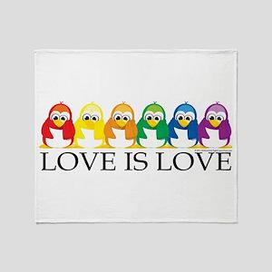 Love Is Love: Penguins Throw Blanket