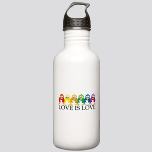 Love Is Love: Penguins Stainless Water Bottle 1.0L