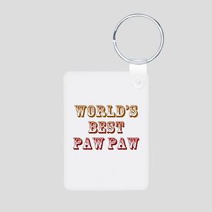 World's Best Paw Paw Aluminum Photo Keychain