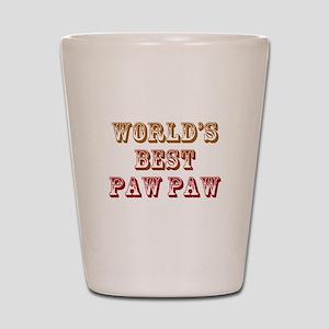 World's Best Paw Paw Shot Glass