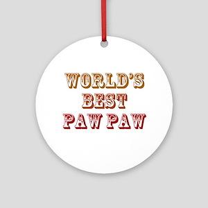 World's Best Paw Paw Ornament (Round)