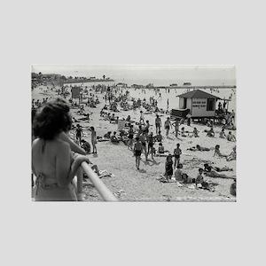 Pontchartrain Beach 1940s Rectangle Magnet
