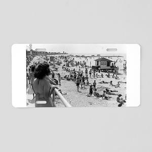 Pontchartrain Beach 1940s Aluminum License Plate