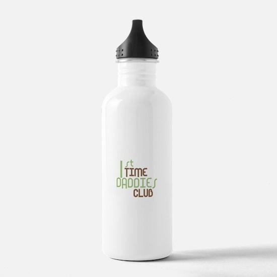 1st Time Daddies Club (Green) Water Bottle