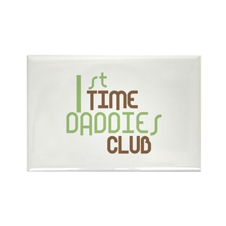1st Time Daddies Club (Green) Rectangle Magnet (10