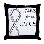 Black Paws Cure Throw Pillow