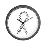 Black Paws Cure Wall Clock