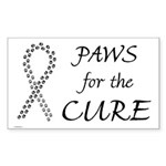 Black Paws Cure Rectangle Sticker
