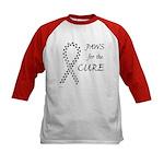 Black Paws Cure Kids Baseball Jersey