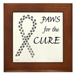 Black Paws Cure Framed Tile