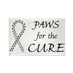 Black Paws Cure Rectangle Magnet (100 pack)
