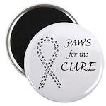 Black Paws Cure Magnet