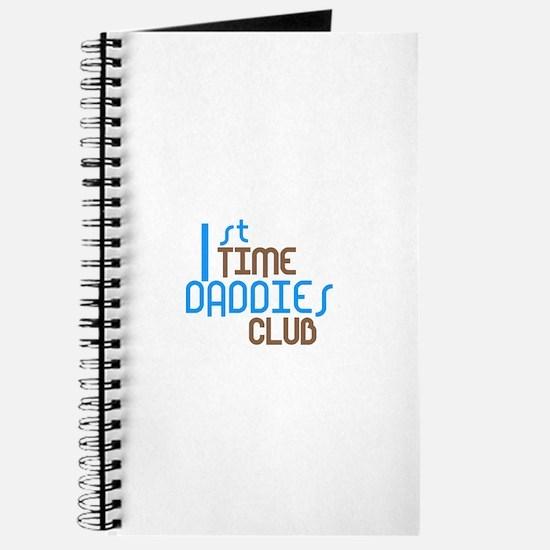 1st Time Daddies Club (Blue) Journal