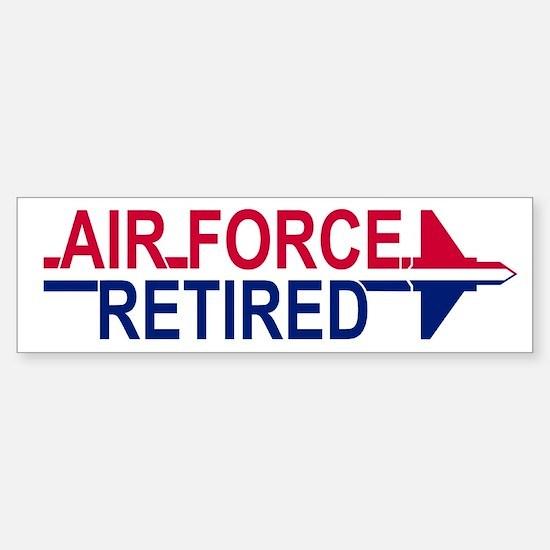 Air Force Retired <BR>Bumper Car Car Sticker