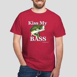 """""""Kiss My Bass"""" Men's Dark T-Shirt"""