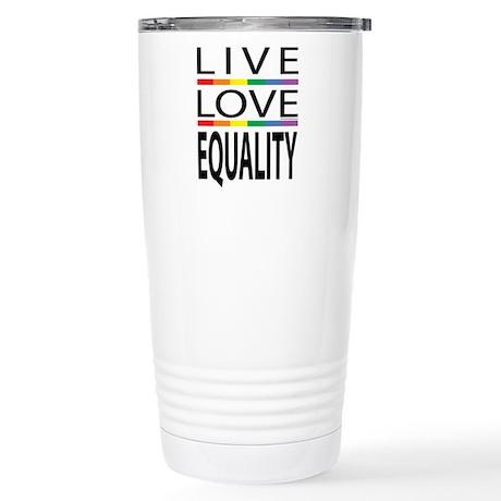 Live Love Equality Stainless Steel Travel Mug