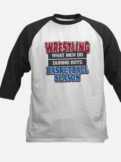 Wrestling What Men Do Kids Baseball Jersey