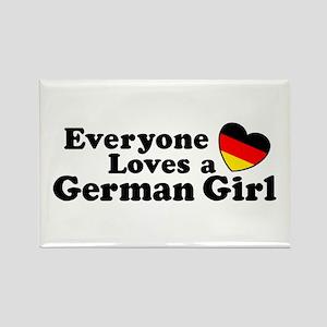 German Girl Rectangle Magnet